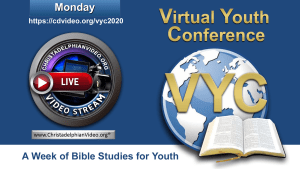 Virtual Youth Conference 2020: Monday 3rd August