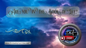 Are you in the Book of Life?