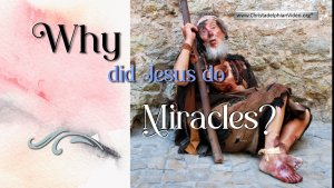 Why Did Jesus do Miracles?