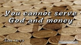 "Daily Readings & Thought for September 23rd. ""YOU CANNOT SERVE GOD AND …"""