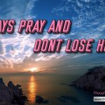 "Daily Readings & Thought for September  25th. ""ALWAYS PRAY AND NOT LOSE HEART"""