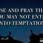 "Daily Readings & Thought for September 29th. ""PRAY THAT YOU MAY NOT …. """