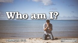 """Daily Readings & Thought for October 3rd. """"WHO AM I LORD?"""""""
