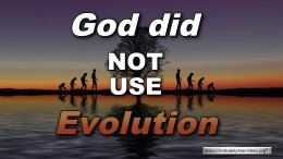 God did 'NOT' use Evolution
