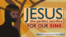 Jesus, the perfect sacrifice for our sins.