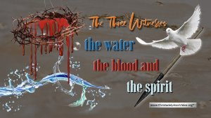 The Three Witnesses: The water the blood and the spirit.