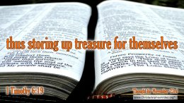 """Daily Readings & Thought for November 23rd. """"STORING UP TREASURE FOR THEMSELVES"""""""
