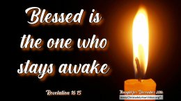 "Daily Readings & Thought for December 28th. ""Blessed is the one who stays awake."""