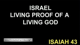 Israel Living proof of a Living God