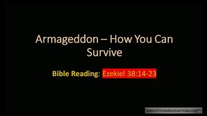 Armageddon: How you can Survive!