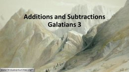 Additions and Subtractions