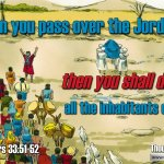 """Daily Readings & Thought for April 14th. """"THEN YOU SHALL DRIVE OUT … """""""