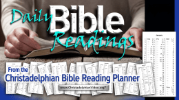 Read the Bible every year - Daily Bible Reading Planner information video.