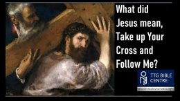 What did Jesus mean, Take up Your Cross and Follow me?
