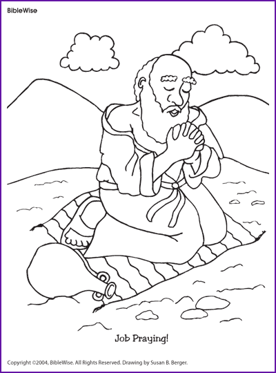 Elijah Bible Story Coloring Pages