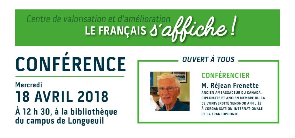 Conférence dans le cadre de la campagne «Le français s'affiche !»