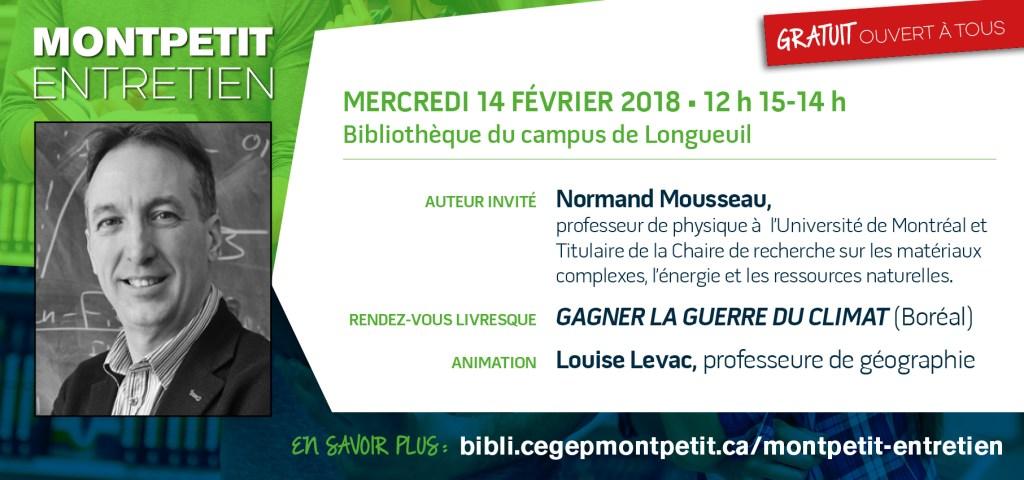 « Montpetit entretien » avec Normand Mousseau