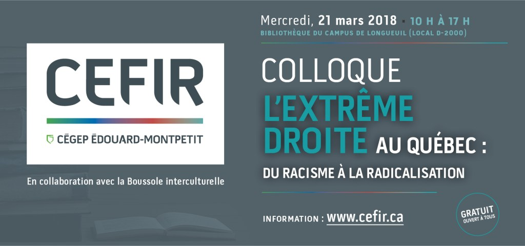 Conférences dans le cadre du colloque du CEFIR à la bibliothèque du campus de Longueuil