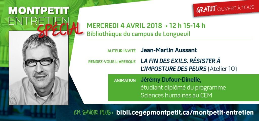 Jean-Martin Aussant au «Montpetit entretien»