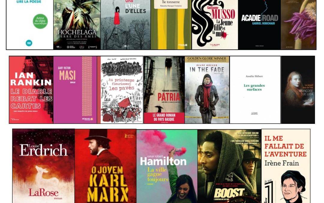 Nouveautés littéraires – Campus Longueuil – 20 août 2018