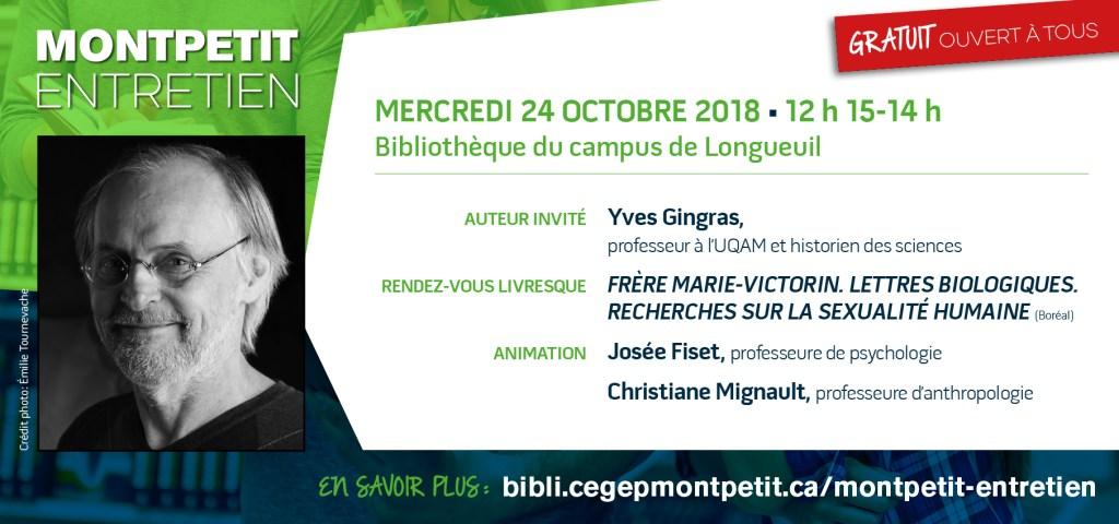 « Montpetit entretien » avec Yves Gingras