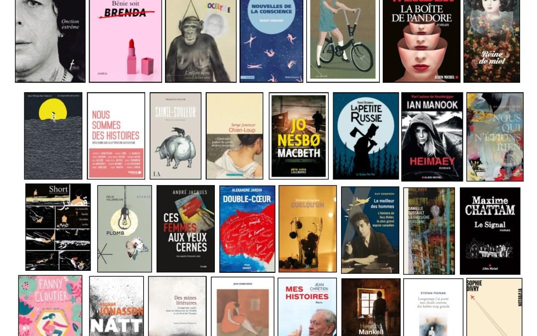 Nouveautés littéraires – Campus Longueuil – 25 janvier 2019