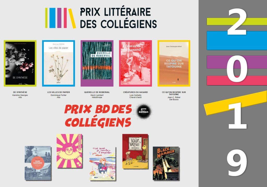 Finalistes du Prix littéraire des collégiens et du Prix BD des collégiens du collège Ahuntsic 2019