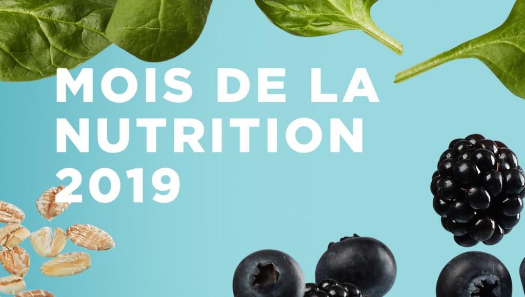 Mars : Mois de la nutrition