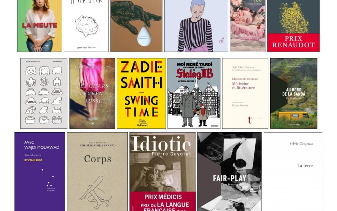 Nouveautés littéraires – Campus Longueuil – 17 avril 2019