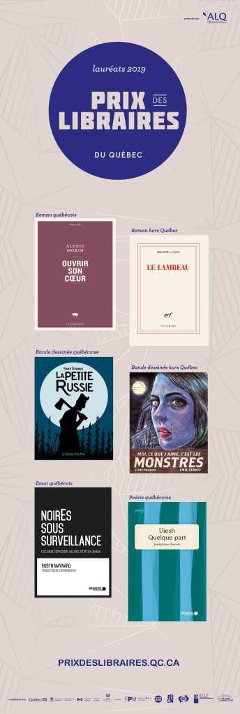 Lauréats des Prix des libraires du Québec 2019