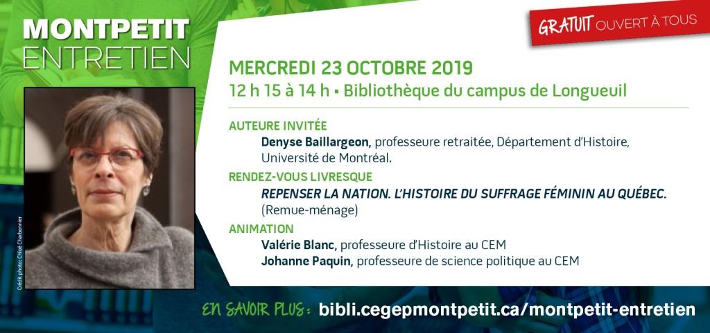 """Denyse Baillargeon est l'invitée du """"Montpetit entretien"""""""