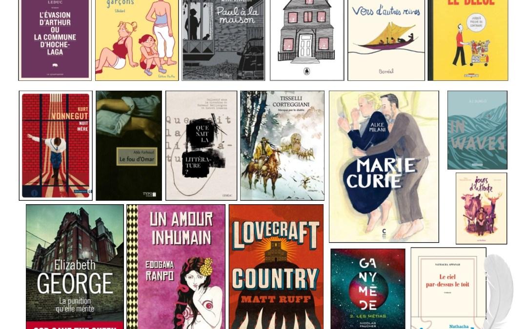 Nouveautés littéraires – Campus Longueuil – 22 janvier 2020