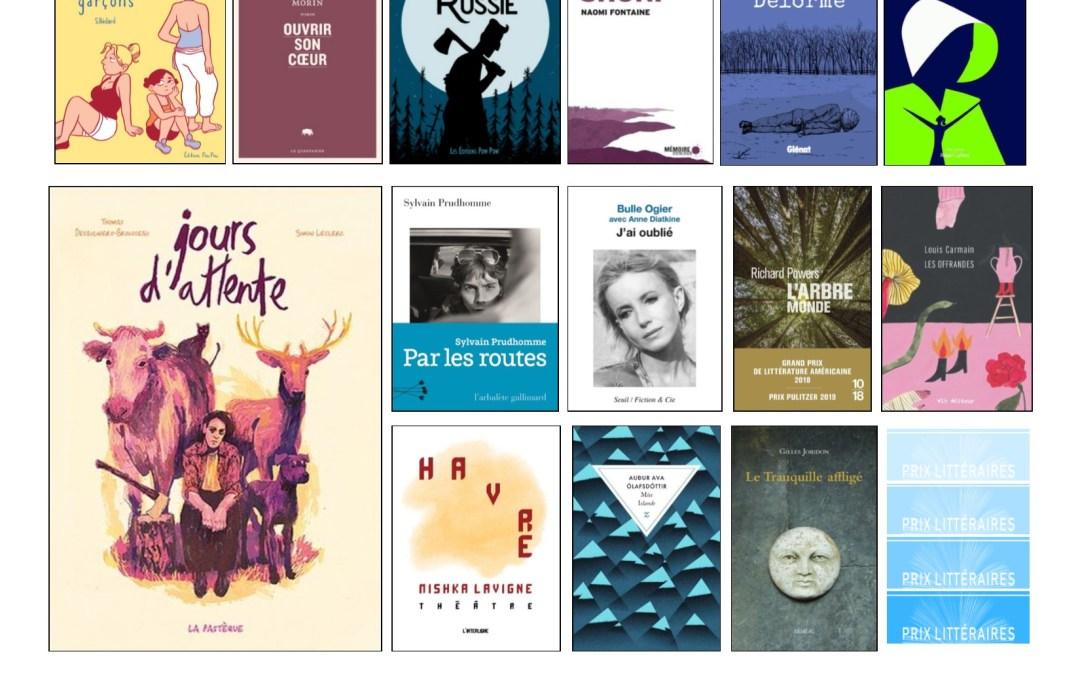 Nouveautés – Prix littéraires à l'ÉNA – hiver 2020