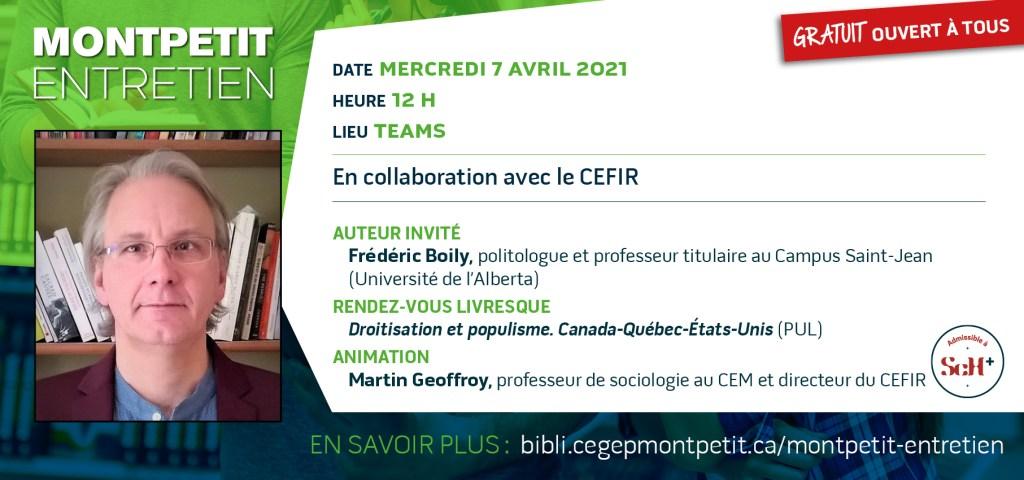 """Retour des """"Montpetit entretien""""… en format virtuel !"""