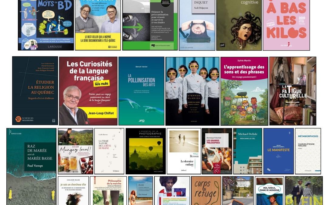 Nouveautés – campus de Longueuil – 9 avril 2021