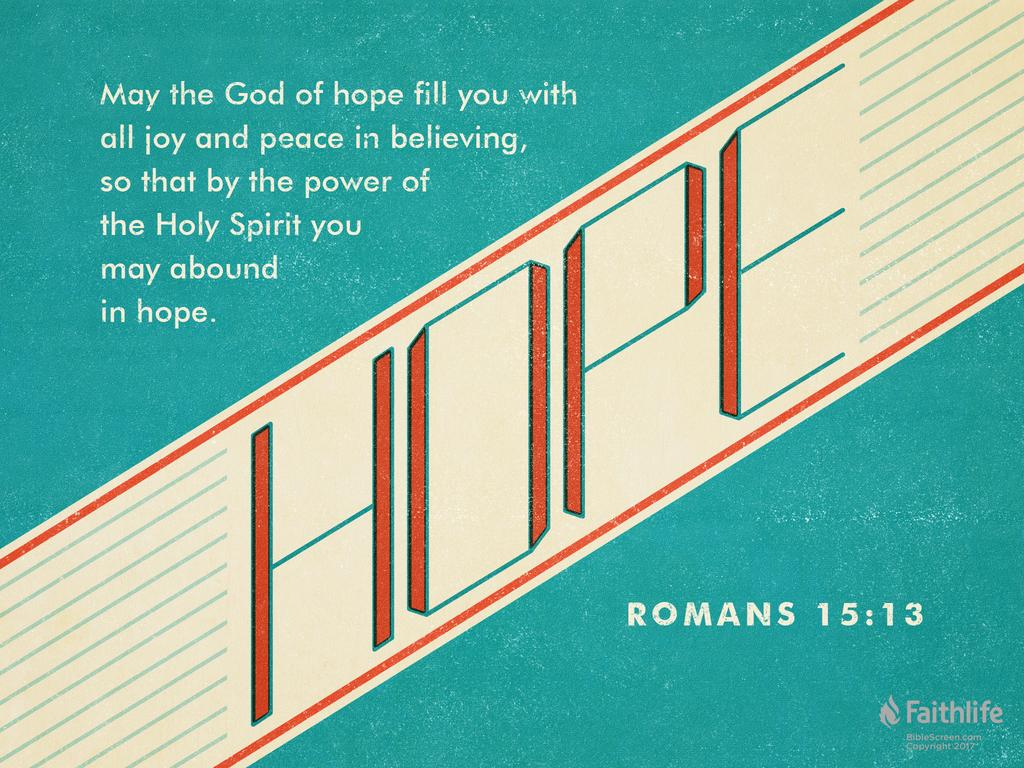 hight resolution of verse of the day romans 15 13