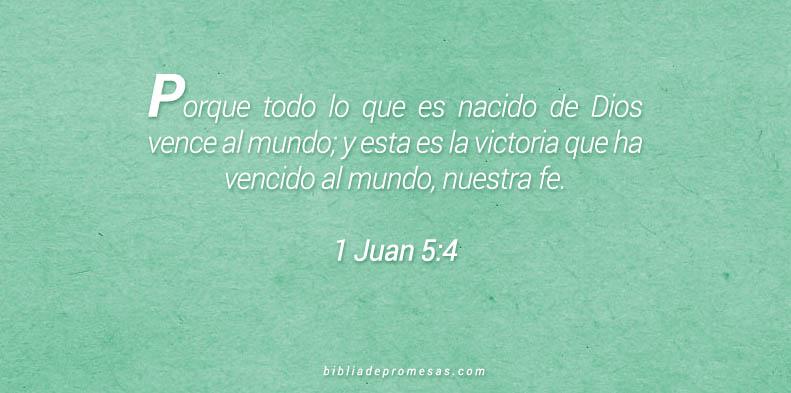 1 Juan 5:4