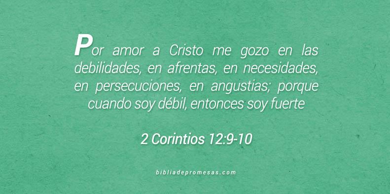 2 Corintios 12:9-10