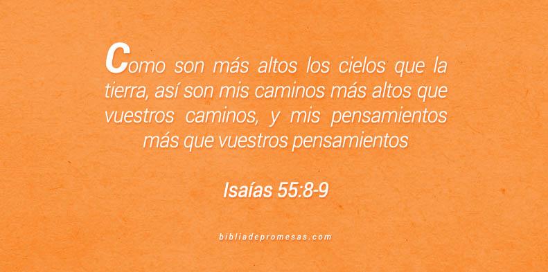 Isaías 55:8-9