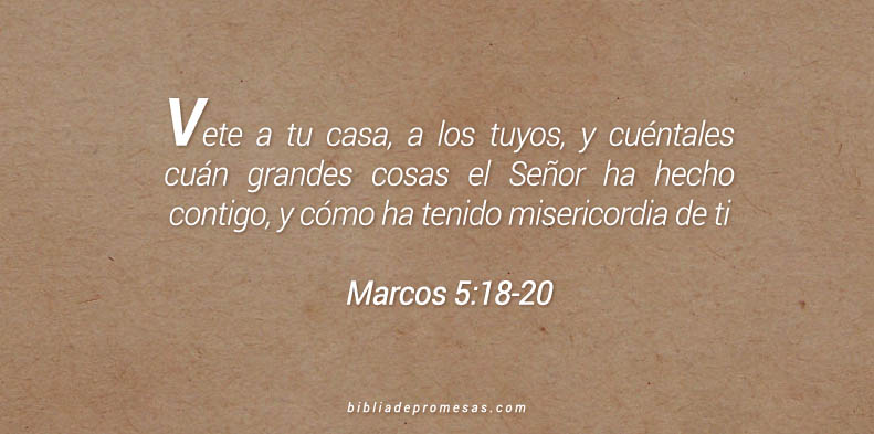 Marcos 5:18-20