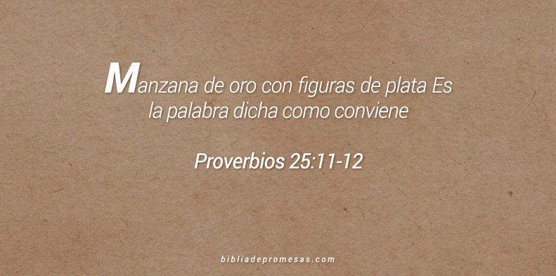 Proverbios 25:11-12