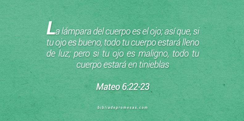 Mateo 6:22-23