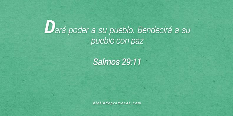 Salmos 29:11