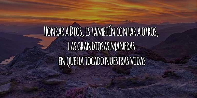 Honrar a Dios