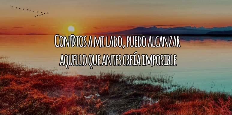 Con Dios a mi lado