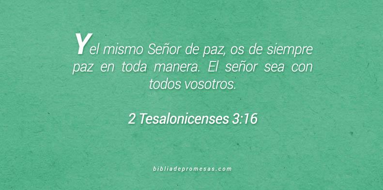 2 Tesalonicenses 3:16