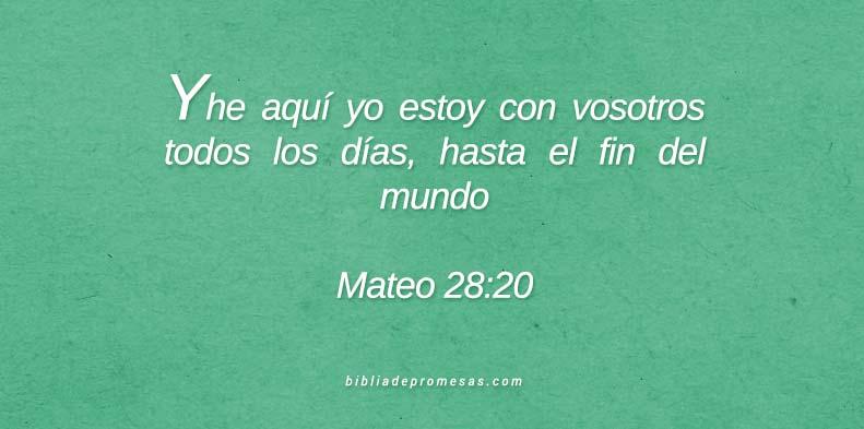 Mateo 28:20
