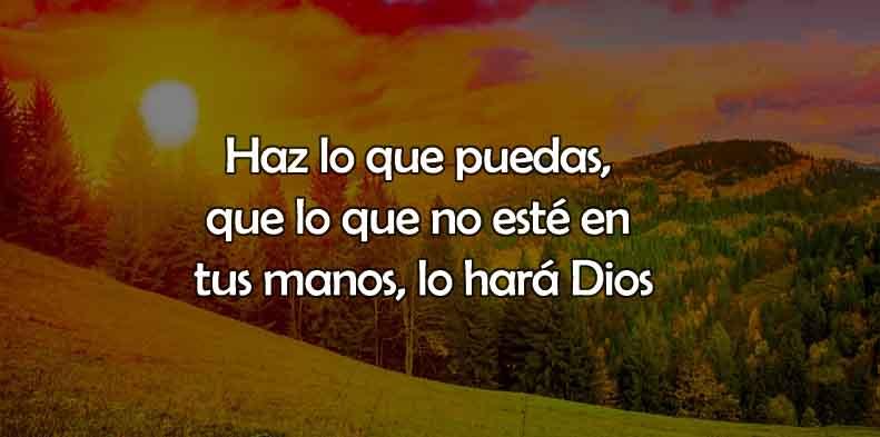 Frases Cristianas Dios Lo Hará Por Ti
