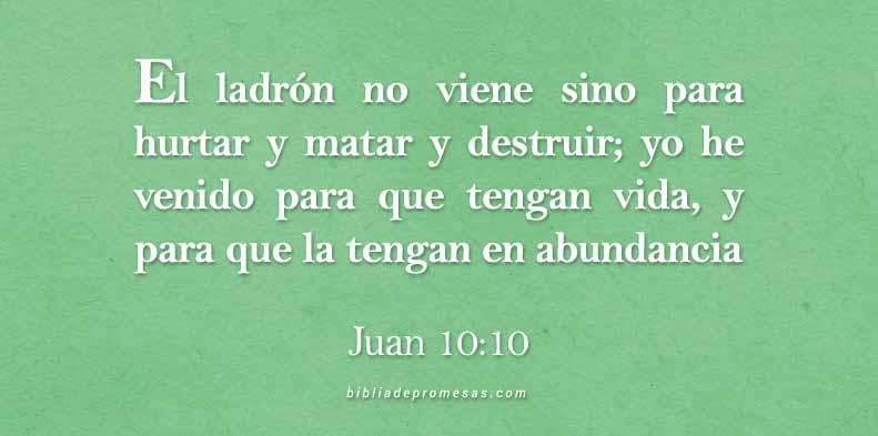 Frases Cristianas Juan 10:10
