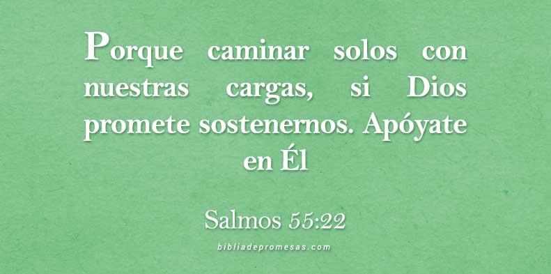 Versículo diario Salmos 55 22